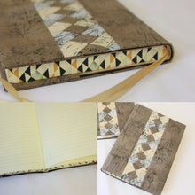 Load image into Gallery viewer, Covered Journal with Patchwork Accent - Hard Bound
