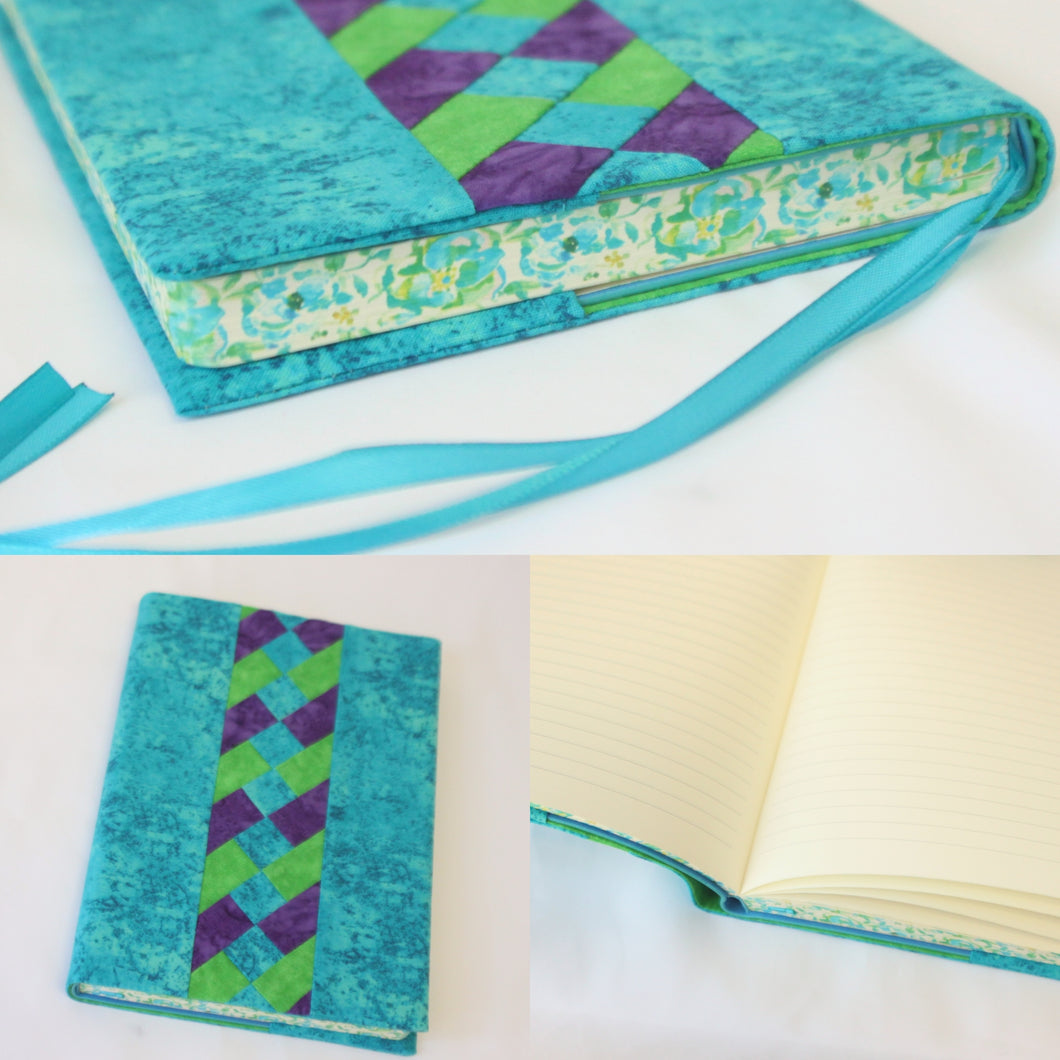 Covered Journal with Patchwork Accent - Hard Bound