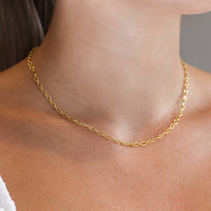 Oval Link Gold Chain Necklace