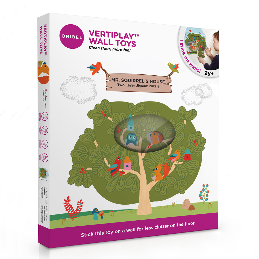 VertiPlay Wall Toy: Mr Squirrel's House 2-Layer Puzzle
