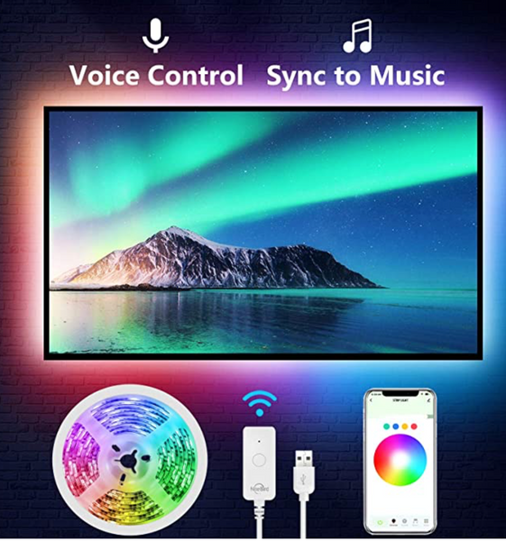 USB Bluetooth TV Color Changing Strip
