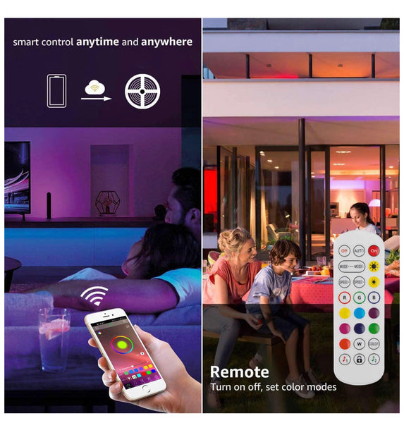 50ft Smart Bluetooth Light Strips for 3D Walls PR