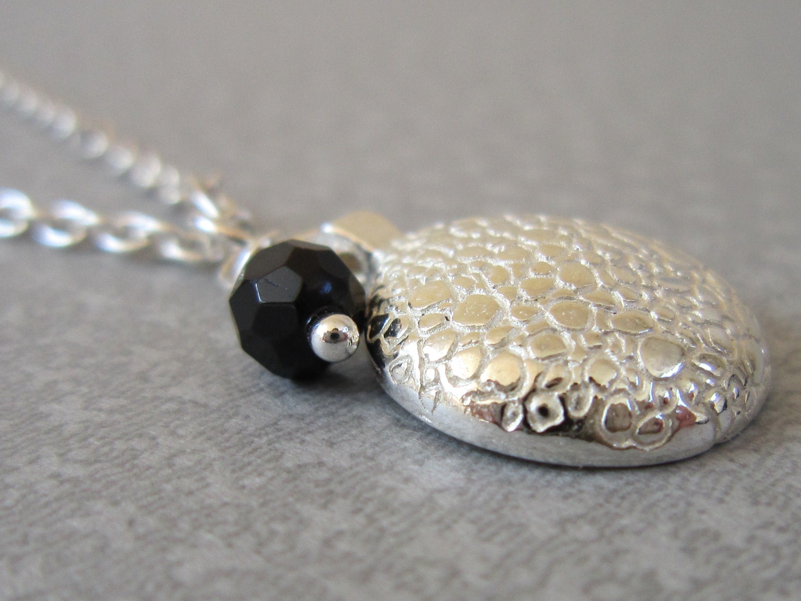 'You' Pendant with Onyx - Amanda Schoppel Art & Wax Carving