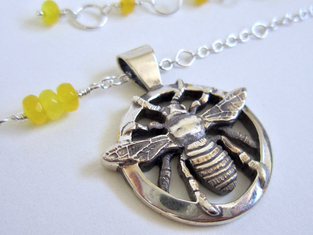 Bee Necklace - Amanda Schoppel Art & Wax Carving