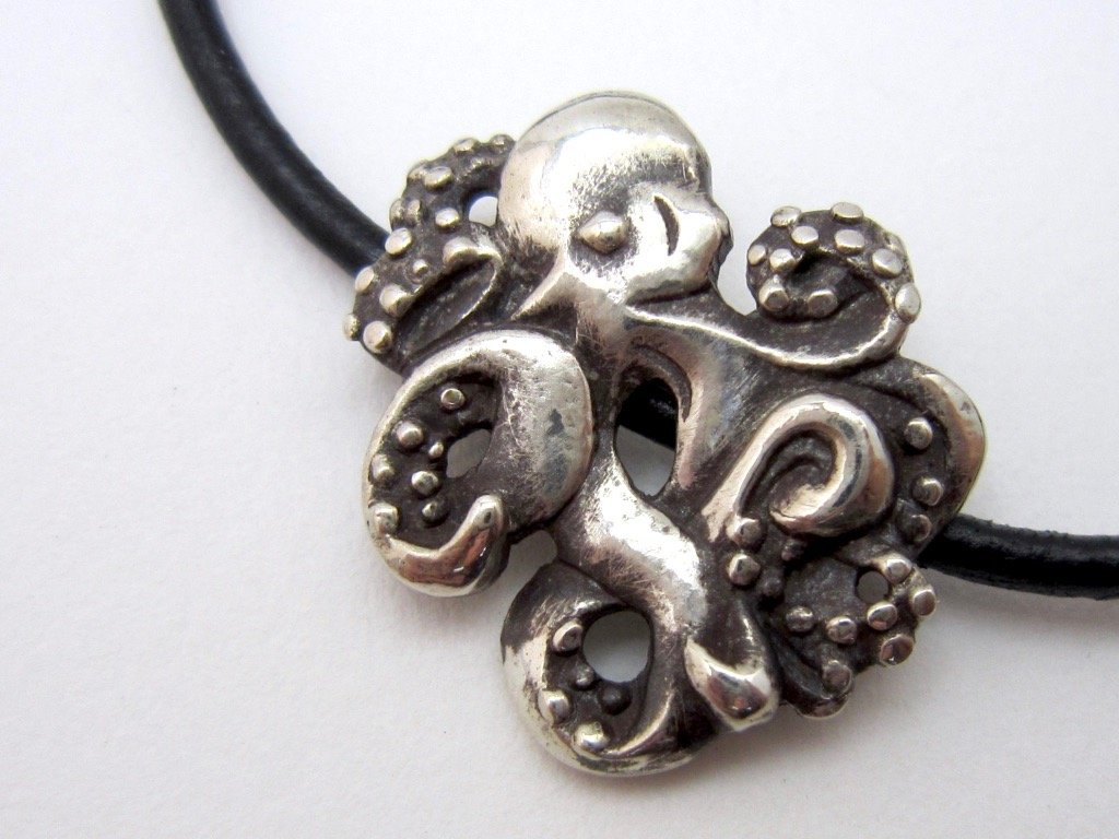 Adjustable Octopus Bracelet - Amanda Schoppel Art & Wax Carving