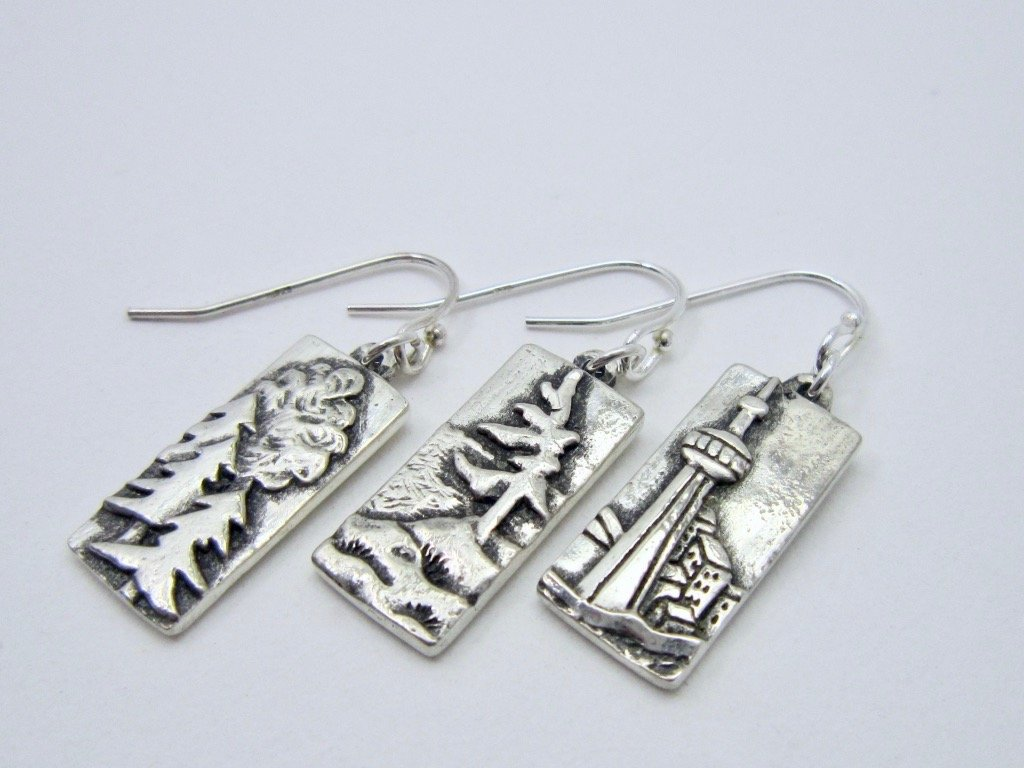 Oh Canada! Mix and Match earrings - Amanda Schoppel Art & Wax Carving