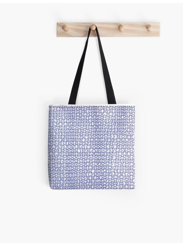 Puzzle Drawing Tote Bag - Amanda Schoppel Art & Wax Carving