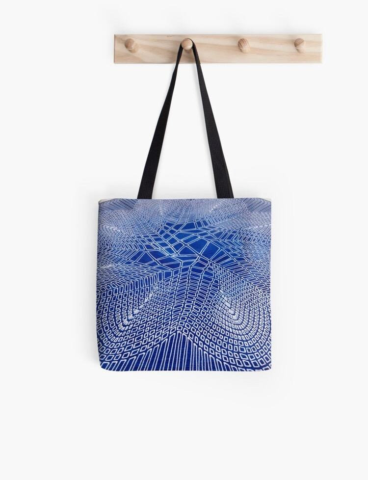 Blue Starburst (detail) Tote Bag - Amanda Schoppel Art & Wax Carving