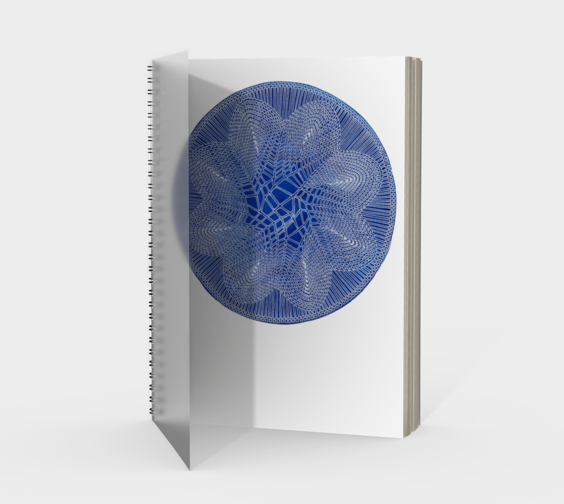 Blue Starburst Spiral Notebook - Amanda Schoppel Art & Wax Carving