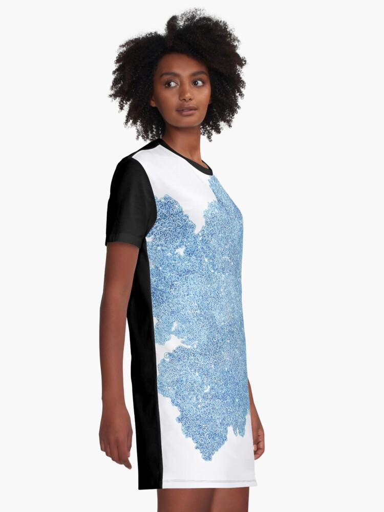 Vine - Origins Graphic T-Shirt Dress - Amanda Schoppel Art & Wax Carving