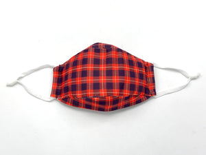 Open image in slideshow, Cardinal Plaid Mask