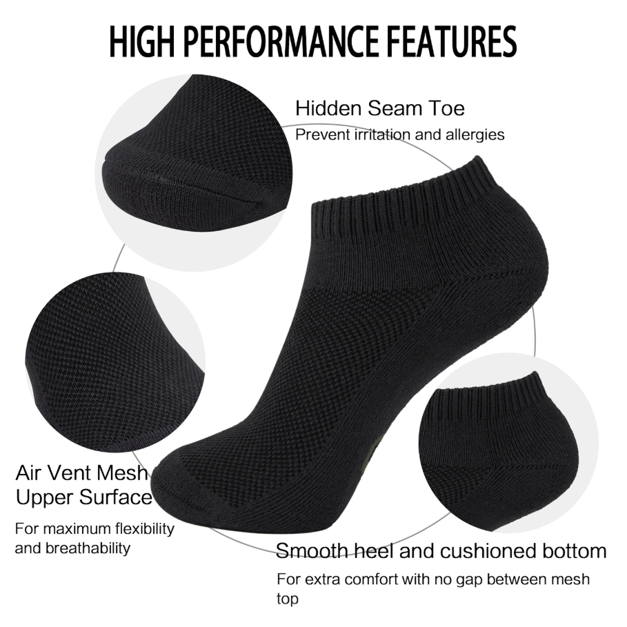 Premium Quality and Comfort - From the careful construction of our socks, to our naturally soft bamboo from rayon yarn, MD strives for excellency in value.     Odor Resistant - Bamboo from rayon keeps feet feeling fresher longer compared to cotton.     Longevity - Our socks are not only durable and resistance to holes, they also contain anti-shrinking properties so that they can be washed time and time again without losing their shape, size, or elasticity.
