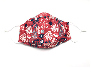 1 washable mask shell comes with 3 replaceable N95 comparable filters One N95 comparable filter may be used for 3-4 days; dispose of after each use Tight-knit polyester outer layer with anti-microbial treatment Inner cotton layer to keep skin dry and comfortable Fits your face with enough volume to breathe Flexible wire nose strip Comfortable, adjustable ear loop straps Protects the wearer from airborne and liquid particles