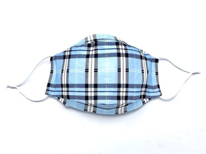 Open image in slideshow, Powder Blue Plaid Mask