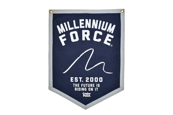 Millennium Force Banner by Oxford Pennants