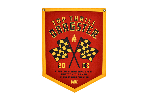Top Thrill Dragster Banner by Oxford Pennants