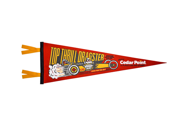 Top Thrill Dragster Pennant by Oxford Pennants