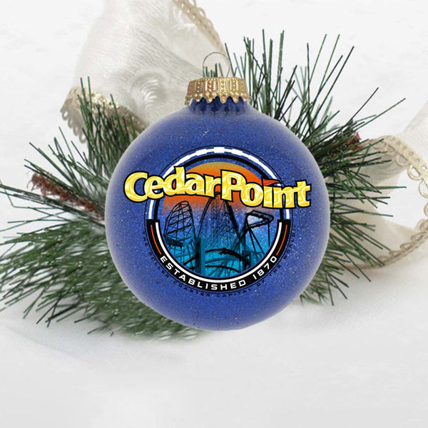 Cedar Point Circle Sign Ornament
