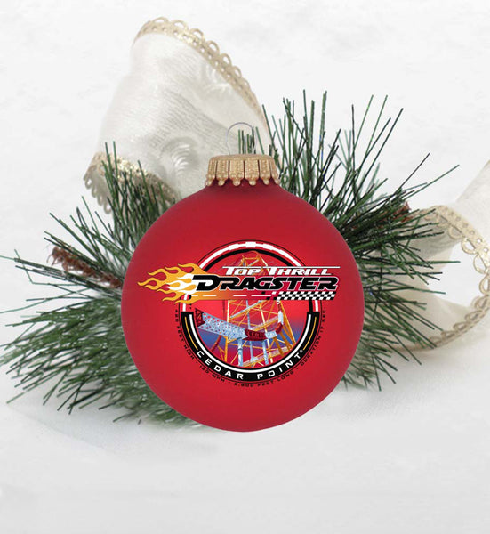 Top Thrill Dragster Circle Sign Ornament