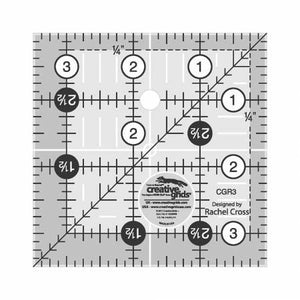 "Creative Grid Ruler 3 1/2"" - The Sewing Gallery"