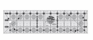 "Creative Grid Ruler 3 1/2"" X 12 1/2"" - The Sewing Gallery"