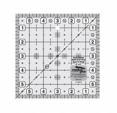 Creative Grids Basic Range 6in Square Quilt Ruler - The Sewing Gallery