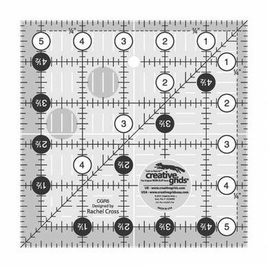 Creative Grids Quilt Ruler 5-1/2in Square - The Sewing Gallery