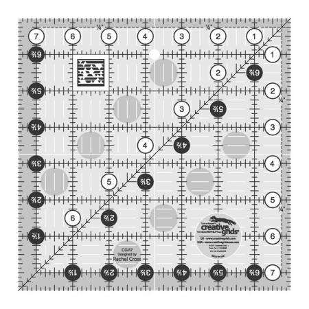 Creative Grids Quilt Ruler 7-1/2in Square - The Sewing Gallery