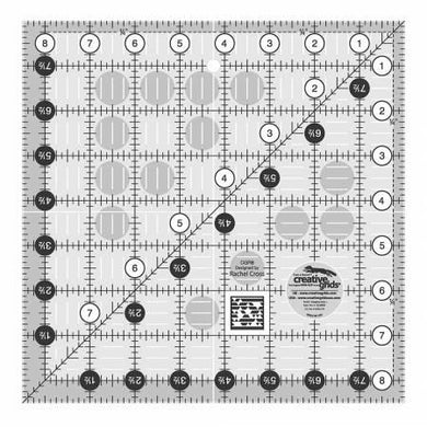 Creative Grids Quilt Ruler 8-1/2in Square - The Sewing Gallery
