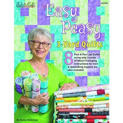 Easy Peasy 3-Yard Quilts - Pattern Book - The Sewing Gallery
