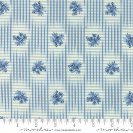 Grand Traverse Bay Light Blue with Plaid - The Sewing Gallery