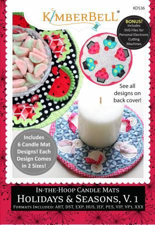 In-the-Hoop Candle Mats: Holidays & Seasons, Volume 1 - The Sewing Gallery