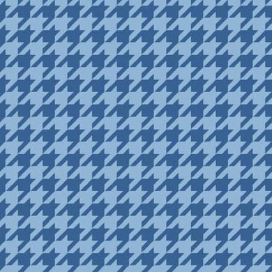 KB Blue Tonal Houndstooth - The Sewing Gallery