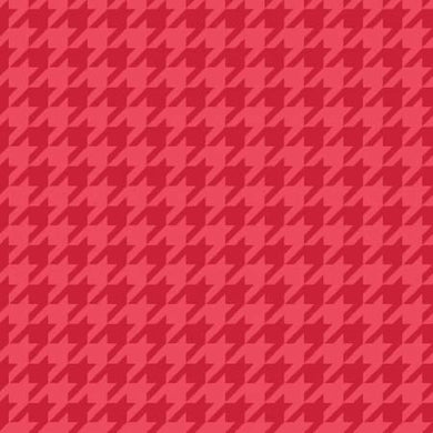 KB Red Tonal Houndstooth - The Sewing Gallery
