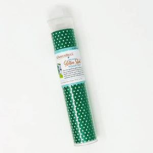 KDKB152 Glitter Green Polka Dots - The Sewing Gallery
