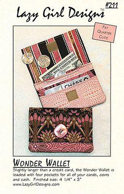 Lazy Girl Wonder Wallet Pattern - The Sewing Gallery