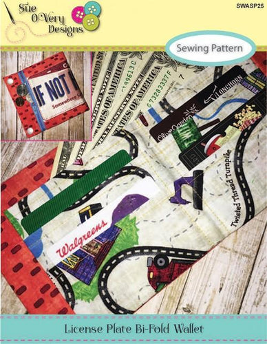 License Plate Bi Fold Wallet Pattern - The Sewing Gallery