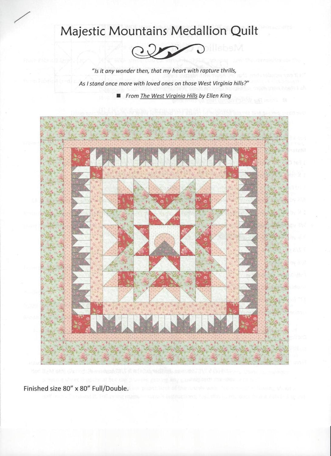 Majestic Mtns. Porcelain Quilt Kit - The Sewing Gallery