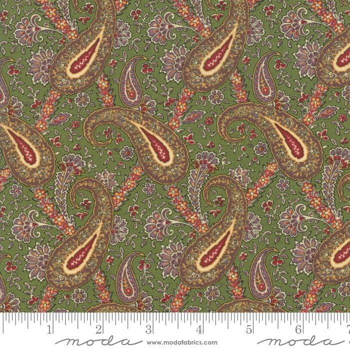 Nancys Needle Prairie Grass Paisley - The Sewing Gallery