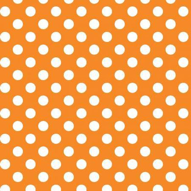 Orange w/ White Dots - The Sewing Gallery