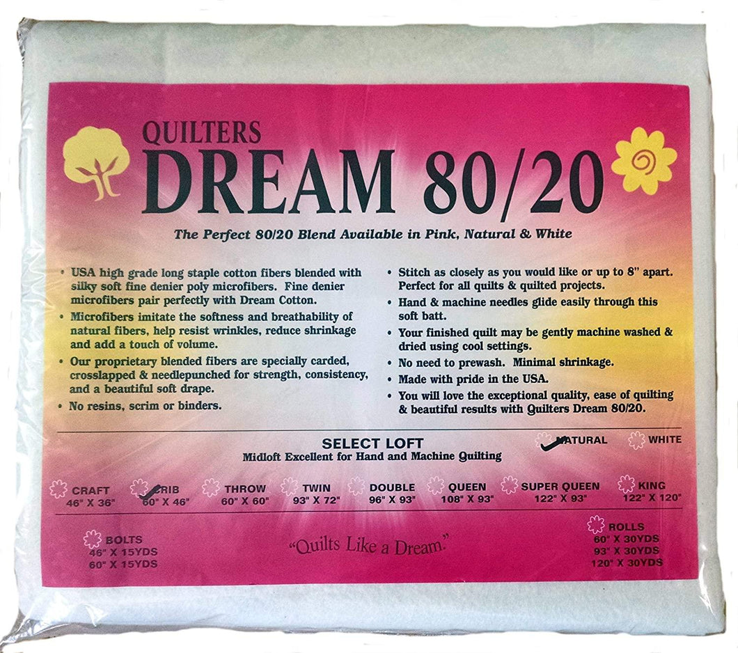 Quilters Dream 80/20 Crib Natural - The Sewing Gallery