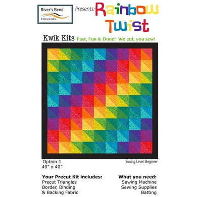 Rainbow Twist Quilt Kit - The Sewing Gallery
