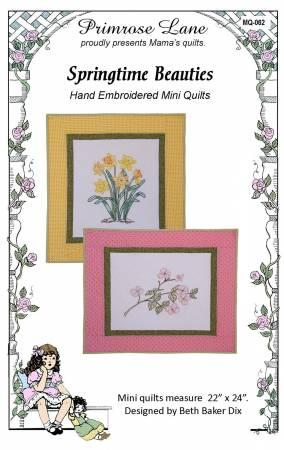 Springtime Beauties Embroidery Pattern - The Sewing Gallery