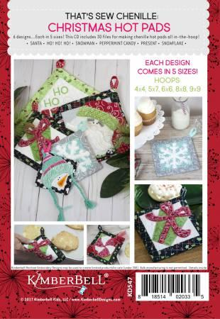 Thats Sew Chenille Christmas Hot Pads Machine Embroidery # KD547 - The Sewing Gallery