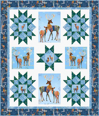 Winter Stars Quilt Kit - Deer - The Sewing Gallery