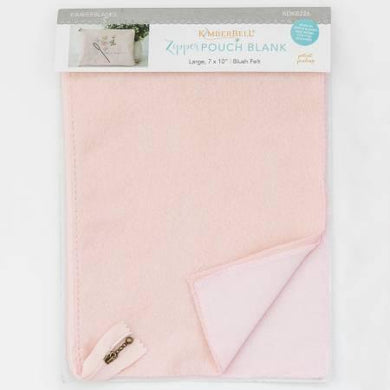 Zipper Pouch Blank Blush Felt Large - The Sewing Gallery