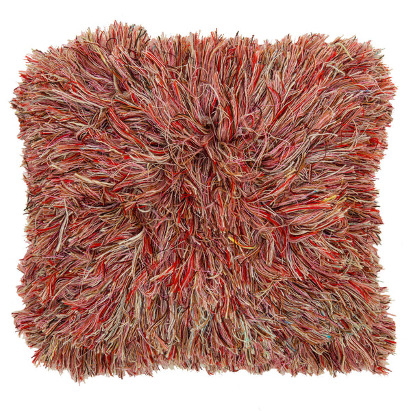 Multi-yarn Pile High Club Cushion - Berry
