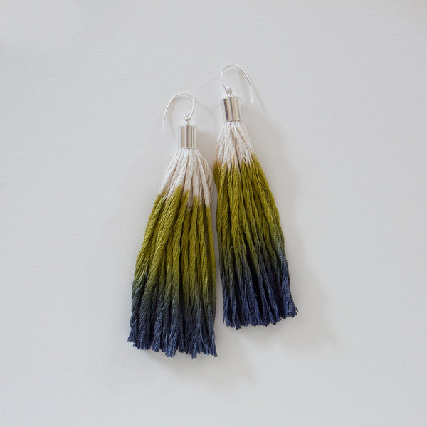 Silk Tassel Earrings - Medium