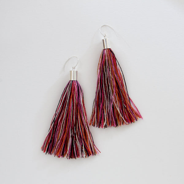 Concentric Eccentric Tassel Earrings