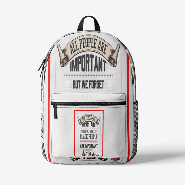 All People Are Important  Retro Colorful Print Trendy Backpack - BelieveInMeBelieveInYou